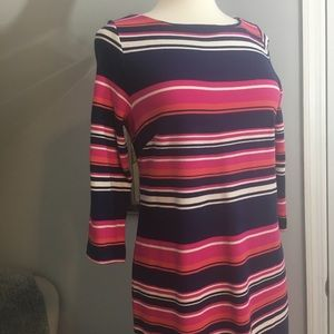Talbots Long Sleeve Multi Color Dress 👗